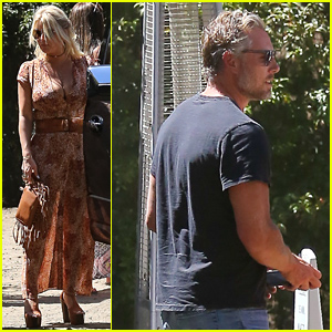 Jessica Simpson Has a Sunday Lunch Date with Eric Johnson!