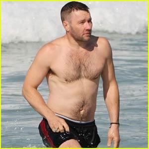Joel Edgerton Shows Off Buff Shirtless Body on Sydney Beach