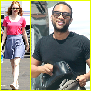 John Legend Joins Emma Stone & Ryan Gosling For 'La La Land' Filming