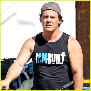 Josh Brolin Puts Buff Biceps on Display En Route to the Gym