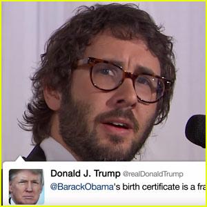 Josh Groban Sings Donald Trump's Tweets - Watch Now!