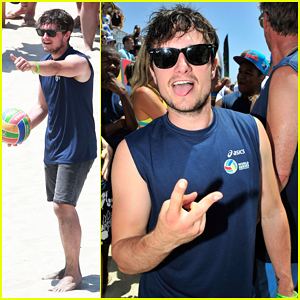 Josh Hutcherson Shows Off His Skills at Celebrity Charity Volleyball Match!