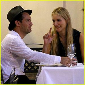 Jude Law Enjoys Romantic Dinner with Girlfriend Phillipa Coan