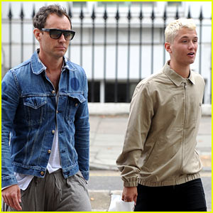 Jude Law Steps Out with His Model Son Rafferty in London!
