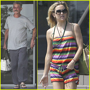 Kate Hudson Working With Her 'Pa' Kurt Russell for the First Time