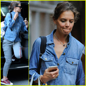 Katie Holmes Does Some Casual Shopping in the West Village