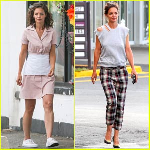 Katie Holmes Becomes a Waitress for 'All We Had' Filming