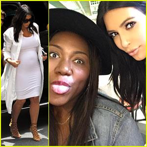Kim Kardashian Flies to New Orleans for Her Fan's Birthday