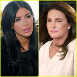 Kim Kardashian Has a Tense Talk with Caitlyn Jenner (Video)
