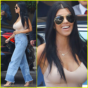 Kourtney Kardashian Flaunts Major Bikini Cleavage