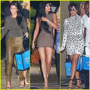 The Kardashian Family Has A Night Out At Nobu