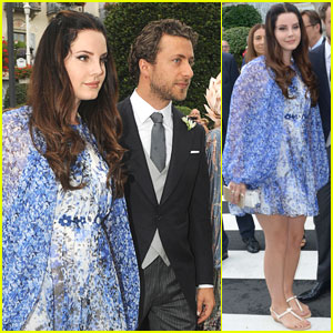 Lana Del Rey & Boyfriend Francesco Carrozzini Attend Wedding Together in Italy