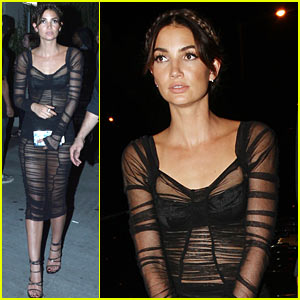 Lily Aldridge Goes Sexy & Sheer for VMAs After Party 2015