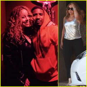 Mariah Carey Rocks a Silver Metallic Top After Hitting the Studio