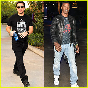 Mark Wahlberg & Jamie Foxx Stop By Taylor Swift's L.A. Show