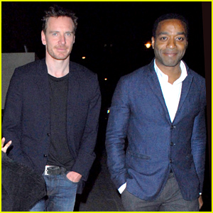 Michael Fassbender & Chiwetel Ejiofor Dine Out with Ridley Scott in London!