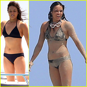 Michelle Rodriguez Gets Her Bikini All Sandy While On Vacation