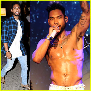 Miguel Crowd Surfs at His Concert While Shirtless!