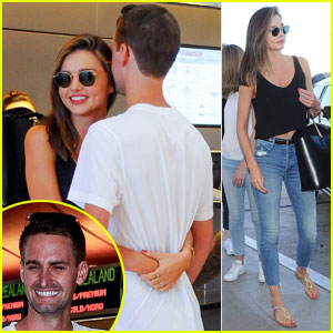 Miranda Kerr & SnapChat's Evan Spiegel Cozy Up at Airport