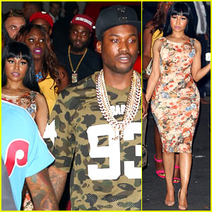 Nicki Minaj Parties with Boyfriend Meek Mill Before the VMAs!