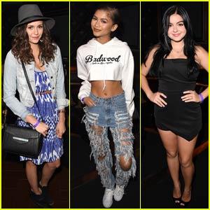 Nina Dobrev & Zendaya Hit Up Taylor Swift's L.A. Concert!