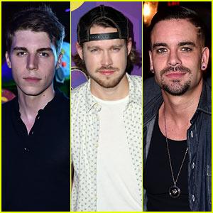 Nolan Funk, Mark Salling, & Chord Overstreet Stage a 'Glee' Reunion at JJ's Wonderland Party!