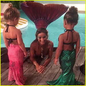 North West & Penelope Disick Meet a Mermaid Together!