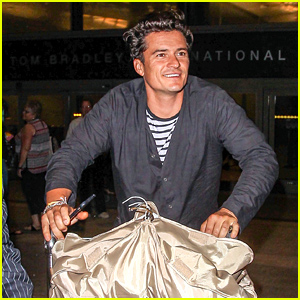 Orlando Bloom Returns to Los Angeles After Time Abroad!