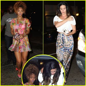 Rihanna & Katy Perry Party Together in the Meatpacking District