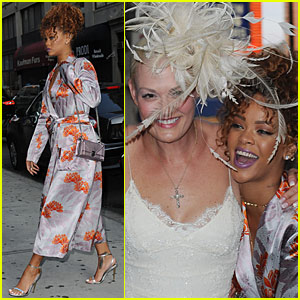 Rihanna Attends Pal Sonya Benson's NYC Wedding