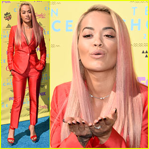 Rita Ora Is Red Hot for Teen Choice Awards 2015!