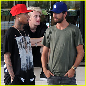 Scott Disick & Tyga Get In Bonding Time While Shopping