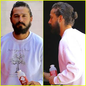 Shia LaBeouf Rocks a Man Bun to Boxing Class in L.A.