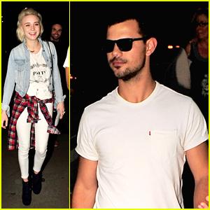 Taylor Lautner & Alessandra Torresani Catch Christina Perri's Concert