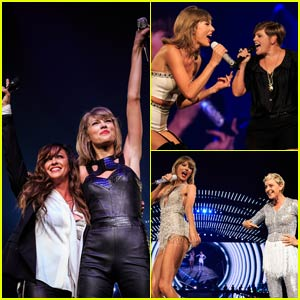 Taylor Swift Surprises L.A. Crowd With Alanis Morissette & the Dixie Chick's Natalie Maines! (Videos)