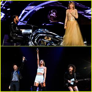 Taylor Swift Performs with John Legend & St. Vincent at L.A. Concert (Videos)