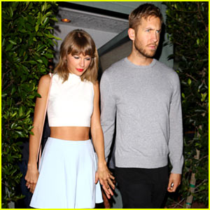 Taylor Swift & Calvin Harris Hold Hands for Date Night Dinner!