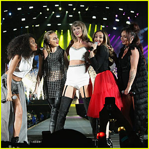 Taylor Swift Takes the Stage With Little Mix, Julia Roberts & Joan Baez