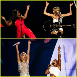 Taylor Swift Sings 'White Horse' With Uzo Aduba, Also Brings Out Mary J. Blige, Chris Rock, & Matt LeBlanc! (Videos)