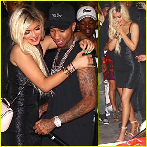 Tyga Surprises Kylie Jenner with Brand New Ferrari At 18th Birthday Bash!