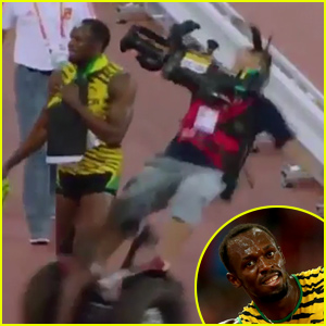 Sprinter Usain Bolt Taken Out By Cameraman on Segway After His Big Win - Watch Now
