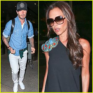 Victoria & David Beckham Head Back to LA After Guy Ritchie's Wedding
