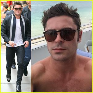 Zac Efron Snaps a Shirtless Selfie on His Hotel Balcony