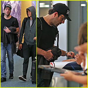 Zachary Quinto & Boyfriend Miles McMillan Celebrate Madonna's Birthday