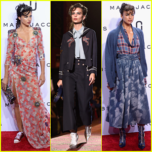 Adriana Lima, Irina Shayk & Emily Ratajkowski Hit The Runway At Marc Jacobs NYFW Show!