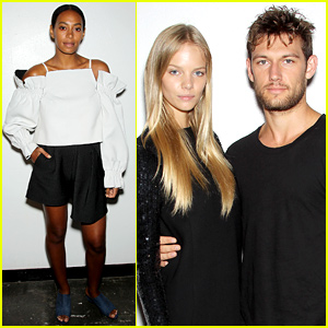 Alex Pettyfer & Girlfriend Marloes Horst Couple Up for NYFW
