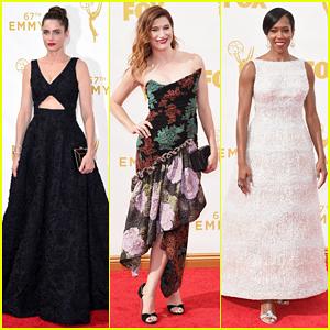 Amanda Peet, Kathryn Hahn & Regina King Are Glamorous Ladies At Emmys 2015!
