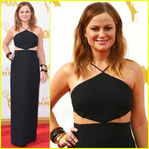 Amy Poehler Stuns in Cut-Out Dress at Emmy Awards 2015