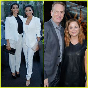 Amy Poehler & Eva Longoria Step Out for NBCUniversal Pre-Emmys Party With America Ferrera