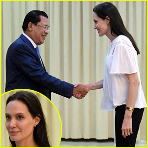 Angelina Jolie Meets with Cambodian Prime Minister Hun Sen